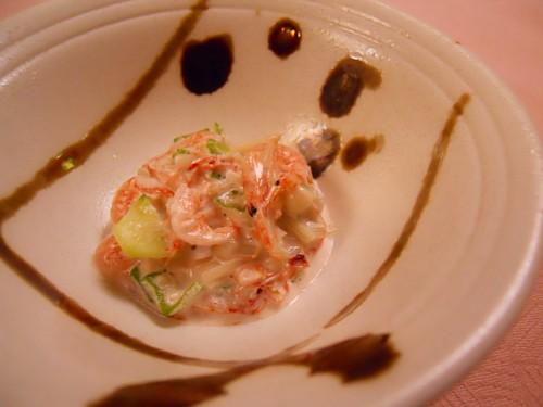 6328-桜海老とおくらの梅肉マヨ和え